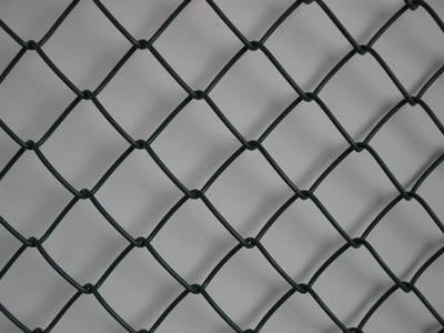 There is a piece of silt fence wire mesh with black coated.