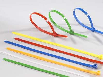 There are zip ties in different colors.
